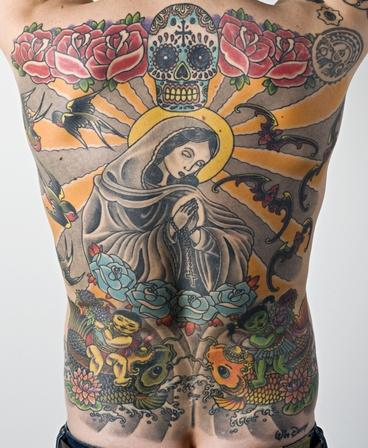 Swiss Man Sells His Wim Delvoye Virgin Mary Tattoo for $260000. Picture